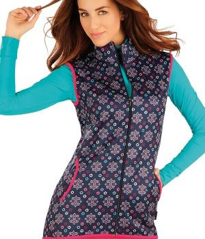 Dámská vesta se stojáčkem na zip barevná Litex 059 3c0e5fa7ba