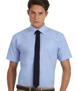 bad932302e9 Pánská košile s krátkým rukávem Oxford B C