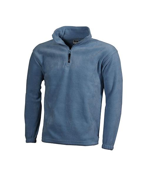 a8a229b60280 Cvalda.cz - Fleecová mikina James   Nicholson Half-Zip Fleece - světle modrá